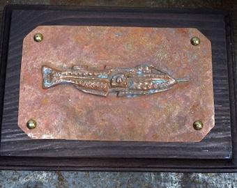 Nautilus copper plaque 20,000 Leagues Under the Sea Jules Verne Disney ride