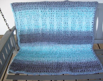 Laghan,crocheted,turquoise,gray,seniors,gift,cover,handicapped,children