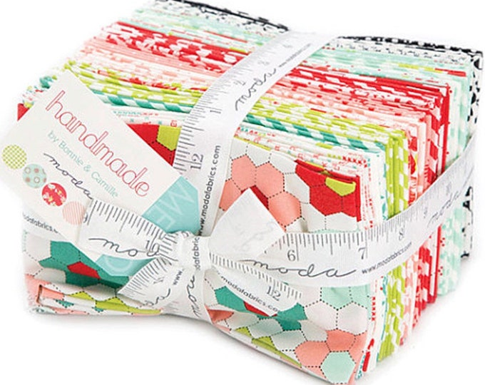Retro Style fabric, Quilt Fabric bundle, Fat Eigths of the Handmade collection, Bonnie and Camille, Precuts of Entire Line, Quilt fabrics