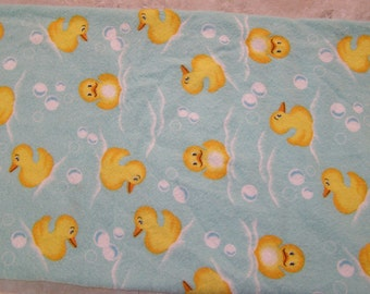 Rubber Duckies Flannel Fabric
