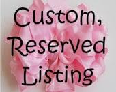 Custom listing for Colleen