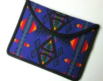 "12"" MacBook Laptop Cover Sleeve Case Southwest Blanket Wool from Pendleton Oregon Purple"