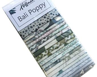 """Hoffman cascade Bali coquelicot prédécoupés 2.5"""" tissu patchwork bandes peintes à la main Batiks ETV-449"""