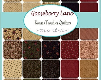 "Moda GOOSEBERRY LANE Layer Cake 10"" Precut Fabric Quilting Cotton Squares 9540LC"