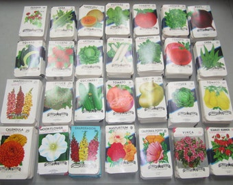 30 different Old Vintage - Vegetable & Flower - SEED PACKETS  Lone Star Seed Co. San Antonio , Texas.