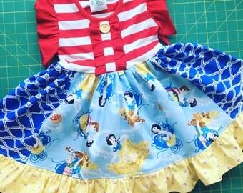 Disney Snow White Seven Dwarfs dress Momi boutique custom dress