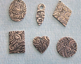 6 Tapestry Drop Charms 704