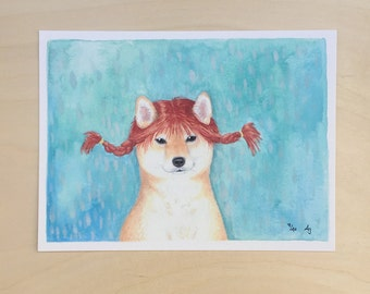 Puppy Longstocking - Unframed 7x5 Limited Edition Giclee Print