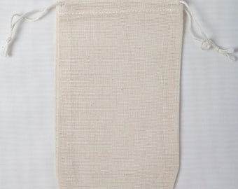 3000 3.25x5 cotton muslin double drawstring bags