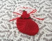 Crocheted Christmas Stocking Ornament