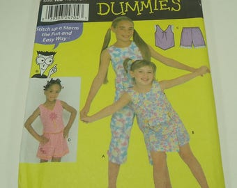 Butterick Sewing Patterns For Dummies Fashions For Child's And Girls', Tops, Pants, Skort, And Shorts Pattern 9607 Size 7 - 8 - 10 - 12 - 14