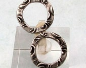 Flora Round 5/8 Inch Ring, Antique Pewter, TierraCast, 2 Pieces TPA6