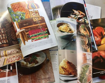 Vintage food and life style magazines