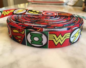 "Superhero 7/8"" grosgrain ribbon"