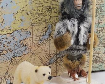 American Explorer Robert Peary North Pole Exploration Historical Figure Miniature Doll