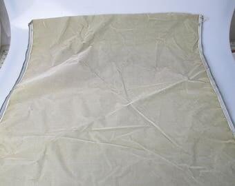 Antique velvet fabric remnant France Victorian cotton silk light sage Piece