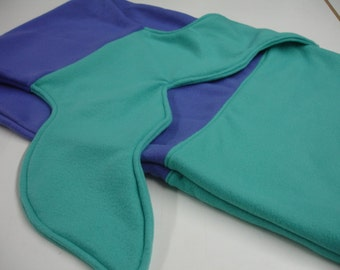 Dark Purple and Turquoise Fleece Mermaid Tail Blanket Baby Toddler Child Tween Choose Size READY TO SHIP