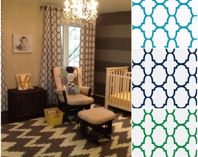 Featured listing image: Custom Riad Quatrefoil Design Drapes  - Lined (various colors and sizes)