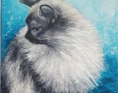 """Cat Oil Painting 6"""" x 6"""" Heavy Duty Gallery Wrap Canvas READY to SHIP"""