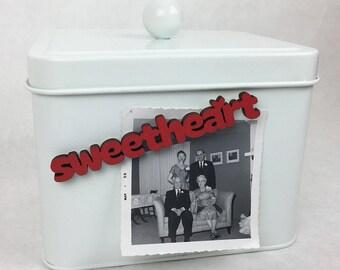 Sweetheart Magnet, Lovers Magnet, Childhood Sweetheart Gift, Romantic Fridge Magnet