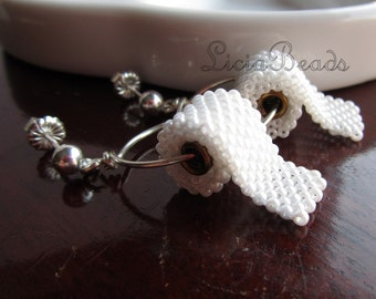 Toilet Paper earrings on sterling silver or gold plated posts, allow up to 2 weeks before shipping