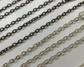 March Madness Sale Destash Jewelry Making Findings 10 Vintage Style 24 Inches Rolo Link Chain Necklaces Silver Plated Gunmetal