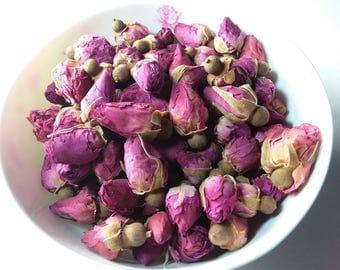 Organic Pink Rose Buds Dried 1oz.