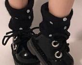 Short Black With White Dot Socks For Blythe...