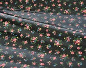 3644 - Cath Kidston Floral (Black) Oilcloth Waterproof Fabric - 28 Inch (Width) x 17 Inch (Length)