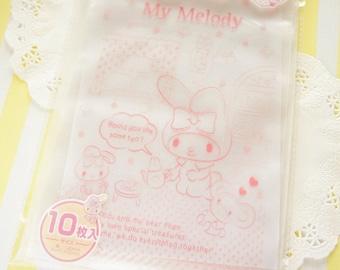 10  Zip Top Baggies / Gift Bags (14cm20cm) My Melody Pink Dots