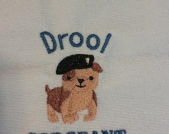 Embroidered Dog Baby Bib