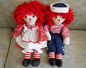 20 inch Traditional Raggedy Ann and Andy Doll Sets