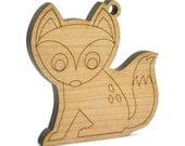 Fox Personalized Christmas Ornament