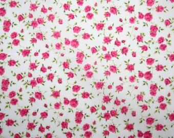 "Liberty Tana Lawn ""NINA"" colour M watermelon red 20 x 20cm (8 x 8"")"