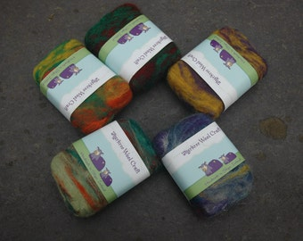 Tea Tree and Peppermint Hand felted   hand made Irish Soap  120 grams