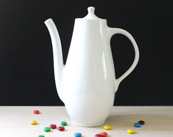Mid century modern white coffee pot.