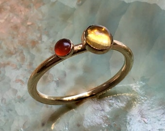 Mothers ring, Gold ring, Gold Filled ring, birthstones ring, family ring, customized ring, family ring, multistone - So happy together R2452