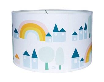 Lampshade Rainbow - Drum Lampshade