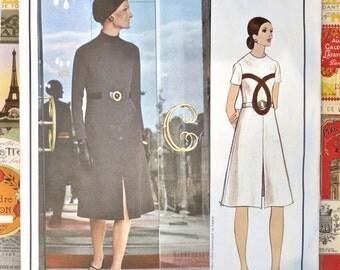 Vintage 1970s Molyneux A Line Dress - Vogue 2544