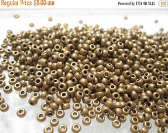 75% Off Miyuki Seed Beads, 10 grams Metallic Dark Bronze Miyuki Seed Beads no. 457 Size 15/0 No 15