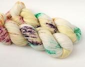 BUTTERCUP - Hand Dyed Yarn - Sparkle Sock Yarn Fingering - Ready to Ship - Vivid Yarn Studio