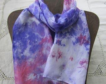 Rorshach Test - Snow Dyed Habotai Silk Scarf