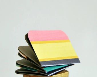 Pastel Stripe Mini Journal {3} Mini Blank Books | Mini Journals | Pastel Favors | Gift for New Mom | Gift under 10 | Mothers Day