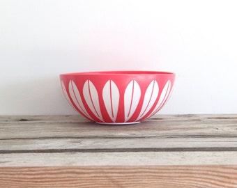 Rare Pink Lotus Deka Cathrineholm Style Bowl