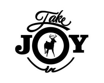 Take Joy In Buck Deer Decal