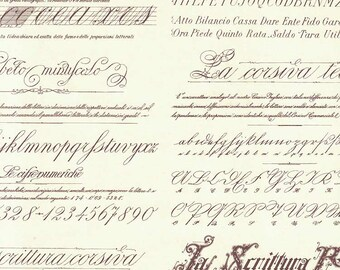 Caligraphy Script Print Italian Paper ~ Leonardo Italy IPL831