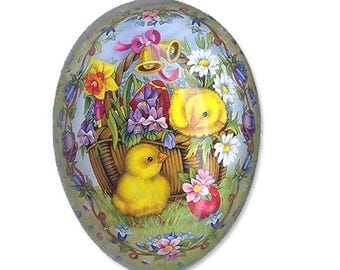 "German Paper Mache Easter Egg Box  4-1/2""  PME709S"