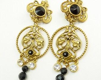 Vintage Bijoux Designs Victorian Revival Clip Earrings