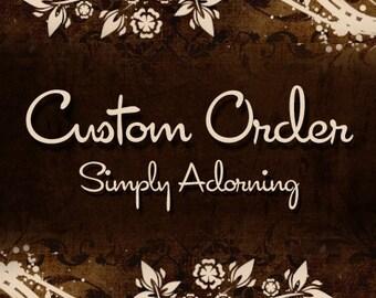 Reserved - Custom Jewelry Deposit - Brenda Agate Cabochon Pendant