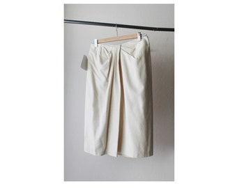 NOS Wrapped Neutral Silk Pencil Skirt